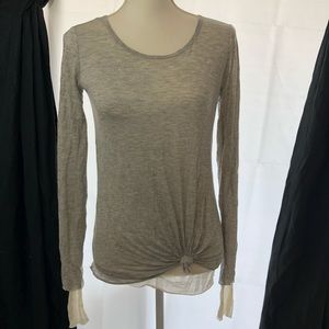 Bailey 44 long sleeve T-shirt top gray size small